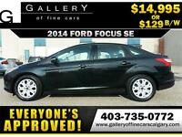 2014 Ford Focus SE $129 bi-weekly APPLY NOW DRIVE NOW