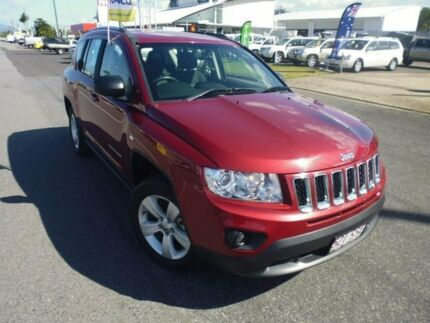 2012 Jeep Compass MK MY13 Sport CVT Auto Stick Maroon Constant Variable Wagon Bungalow Cairns City Preview