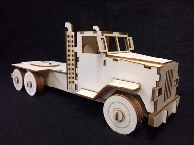 Mack Truck Laser Cut Wooden 3D Model/Puzzle Kit