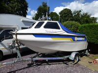 Raider 16 Cuddy Immaculate Fishing Boat Full Package 60hp 4 stroke New Trailer