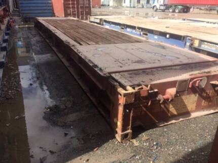 2nd Hand 40' Flat Rack Shipping Container - GST INCLUDED