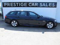 BMW 5 SERIES 2.0 520D M SPORT TOURING 5d 181 BHP (blue) 2013