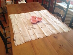 Vintage Table Runner 35 X35 CUTOUT Design Mint.