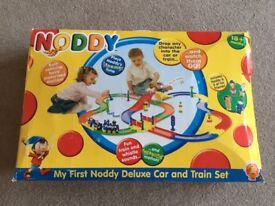 My First Noddy Deluxe Car and Train Set GOLDEN BEAR RARE