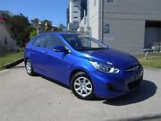2013 Hyundai Accent RB Active Blue 4 Speed Sports Automatic Hatchback Southport Gold Coast City Preview