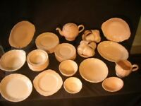 Vintage China Quantity of 'Peach Petal' by Grindley 1950s includes Tea Set for 8,plates,bowls etc