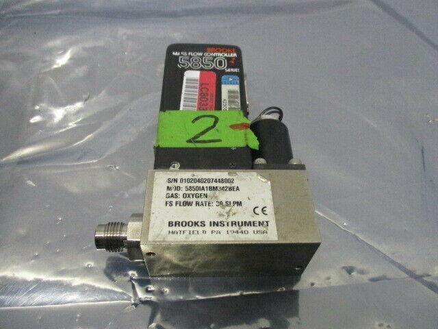 Brooks 5850, Mass Flow Controller, 5850IA1BM342BEA, Oxygen 30 SLPM, 421661