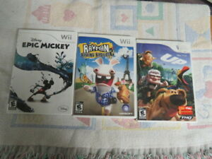 WII GAMES   RAYMAN    EPIC  DISNEY    AND   DISNEY   UP