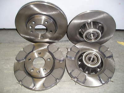 RENAULT TRAFIC FRONT & REAR BRAKE DISCS & PADS c/w ABS RINGS + REAR BEARINGS