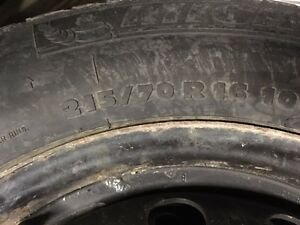 215-70r16 micheline snows on rims