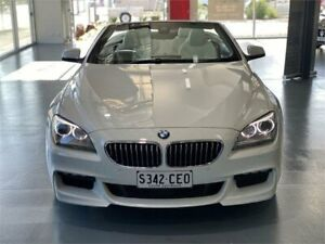 2014 BMW 6 Series F12 MY0314 640i Steptronic White 8 Speed Sports Automatic Convertible Adelaide CBD Adelaide City Preview