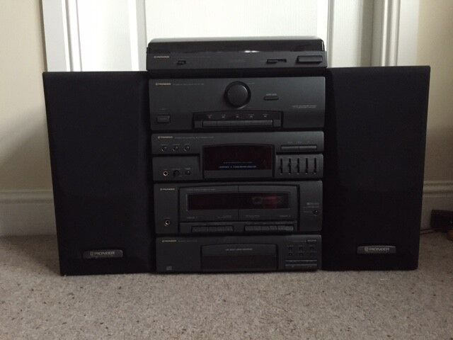 Pioneer Stereo Cd Cassette Deck Receiver Turntable