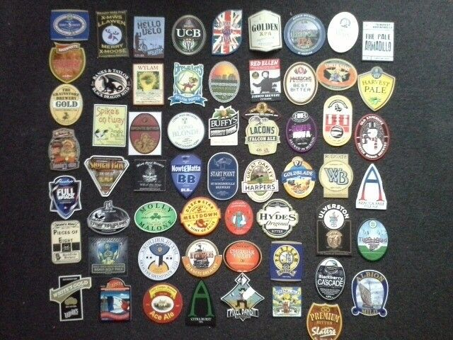 Large collection of Ale/beer pump badges