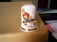 TOM TOM THE PIPERS SON - NURSERY RHYME THIMBLE - NEW