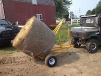 ATV round hay bale hauler **NEW**