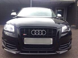Audi S3 2.0t quattro black edition 2009 09 3 door miltek leather px not golf gti r32 edition 30