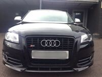 Audi S3 2.0t quattro black edition 2009 09 3 door miltek leather px not golf gti r32 edition 30