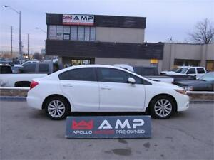 2012 Honda Civic FWD 1.8L LEATHER SCREEN LOW MILES HTD SEATS!