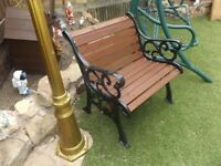 Large Cast Iron Garden Chair - Possibly victorian