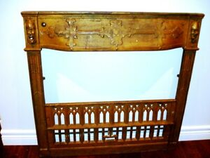 ART DECO salvaged COMEDY TRAGEDY Gothic Rare FIREPLACE SURROUND
