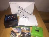 XBOX ONE S 500GB CONSOLE, 2 GAMES & ACCESSORIES