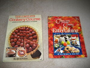 Cookery Course & Easy Entertaining Cookbooks - set of 2