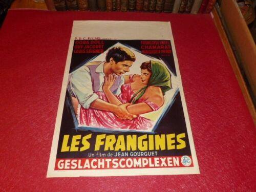 Cinema Poster Original Belgian - The Frangines Dora Doll Jeans Gourget 1960