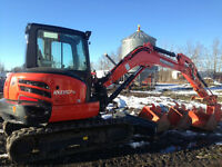 Skidsteers, attachments, Backhoe, dump Trailers for Rent