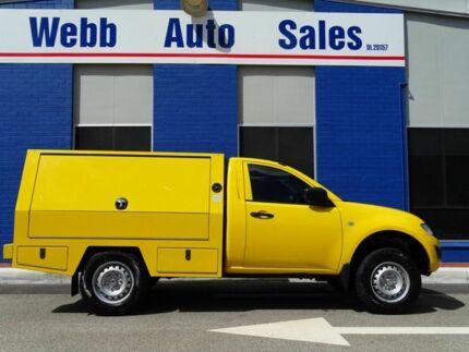 2012 Mitsubishi Triton MN MY12 GLX Yellow 4 Speed Automatic Cab Chassis