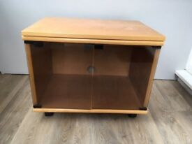 Wooden / glass fronted TV stand