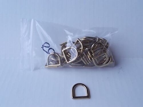 """3/4"""" Solid Brass Cast D Rings (Pack Of 50)"""