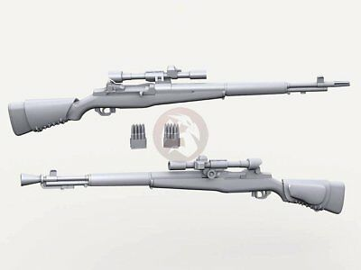Used, Legend 1/35 M1D Garand Snipper Rifle w/M84 Scope & En-Bloc Clip (5 pcs) LF3D032 for sale  Sterling