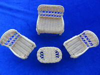 Wicker Doll Furnitures