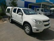 2013 Holden Colorado RG MY13 LX Crew Cab 4x2 White 6 Speed Sports Automatic Cab Chassis Robina Gold Coast South Preview