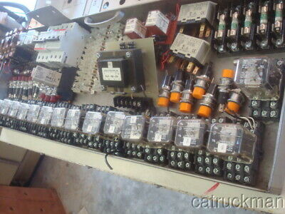 Lot Of Electric Control Devices Relaysfuses Breakers Pilot Lightsts32 Base
