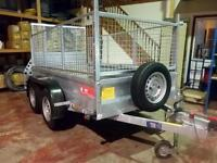 JUST TRAILERS GENERAL PURPOSE TWIN AXLE BRAKED TRAILER WITH SIDES AND LOAD RAMP