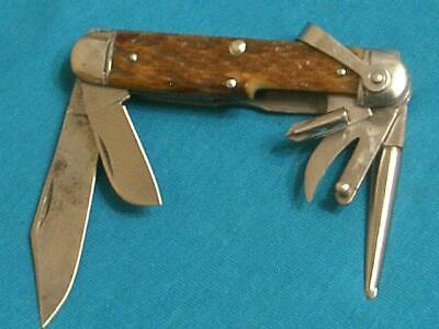 VINTAGE WW2 ULSTER KNIFE USA 10TH MOUNTAIN MARINES USMC KNIVES ANTIQUE POCKET EC