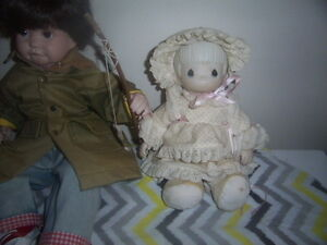 Doll and Desk,Boy Fishing,Girl Doll with teddy Bear,wooden doll. Kingston Kingston Area image 6