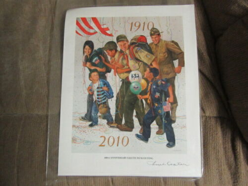 100th Anniversary Salute to Scouting, Csatari Boy Scout Print, Signed    ptr2