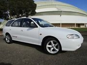 1996 Hyundai Lantra J2 GL White 4 Speed Automatic Wagon Gepps Cross Port Adelaide Area Preview