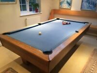 7ft x 4ft slate based championship pool table. Blue baize. Good condition. £250. Buyer collects.