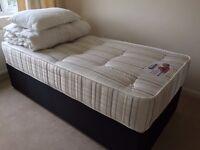 Single Divan bed and Orthopaedic Mattress