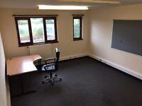 Medium Office in Slateford w. parking 1 - 4 desks 376 sq ft (35 sq m)