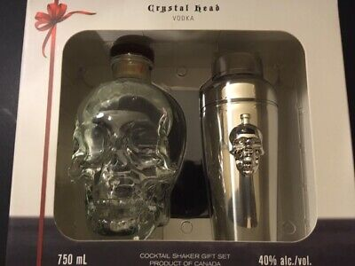 Crystal Fore-part Vodka - Glass Bottle (empty) + Stainless Steel Shaker (new) w / Box