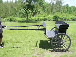 Black Wooden Cart for 14-15.2hh