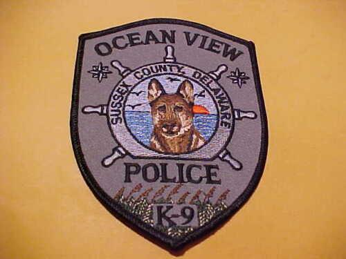 OCEAN VIEW DELAWARE K-9 POLICE PATCH SHOULDER SIZE UNUSED