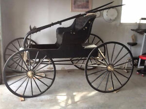 ANTIQUE DOCTORS HORSE BUGGY-REDUCED to $800-RESTORED to NEW COND