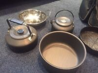 Pots Pans & Kettles and Job Lot Trakker - Lovely Camping & Fishing Gear With A Nash Bag For Only £30