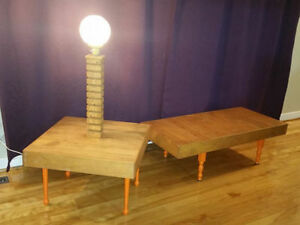 reclaimed solid wood coffee and end table hand made free deliver