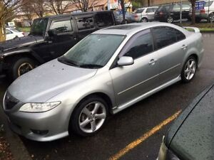 2003 Mazda 6 GG Luxury Sports Silver 5 Speed Manual Hatchback Campbelltown Campbelltown Area Preview